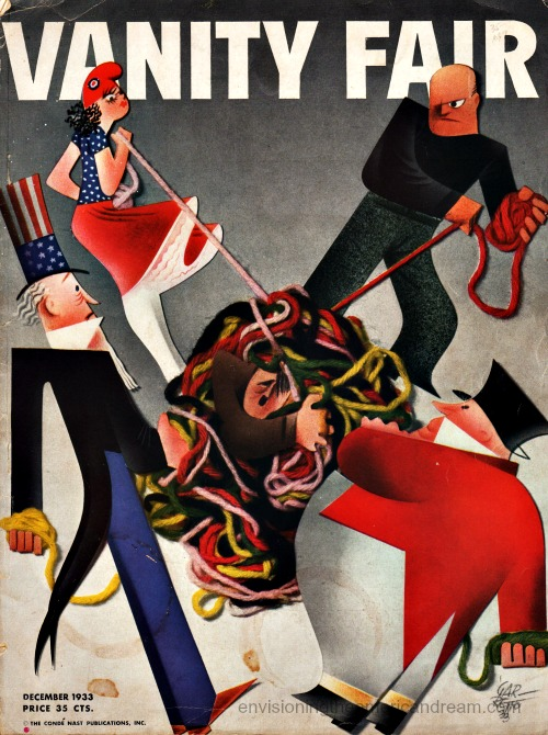 Vanity Fair cover Dec 1933 Illustration Paolo Grarreto
