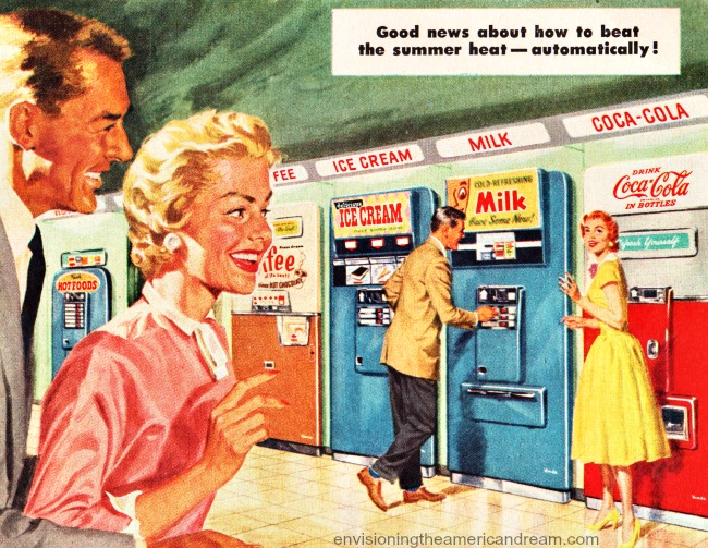 Vintage Illustration Vendo vending machnes 1950s