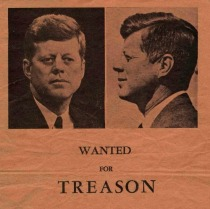 Kennedy Wanted For Treason Poster 1963