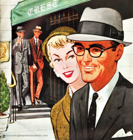 A Strong man vintage illustration 1950s. « be24503148b