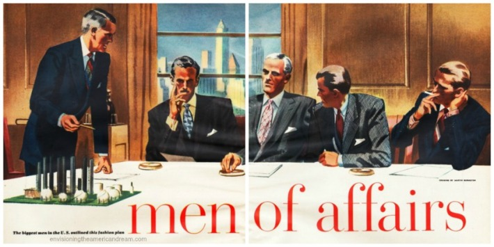 Men of Affairs Esquire Fashion 1949