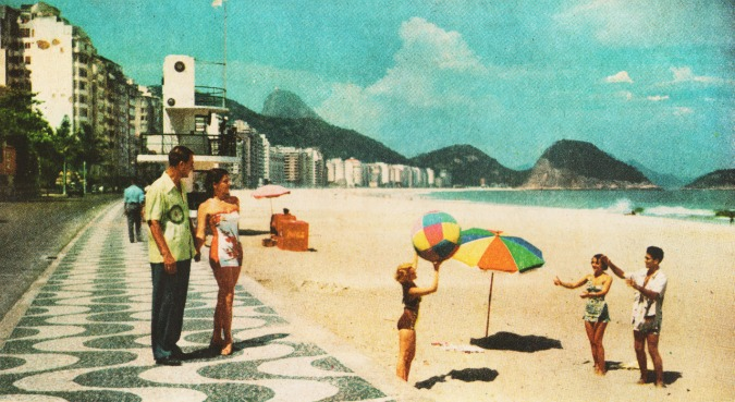Travel Rio Copacabana Beach 1951
