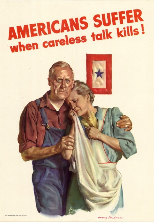 WWII Posters Americans Suffer Careless talk