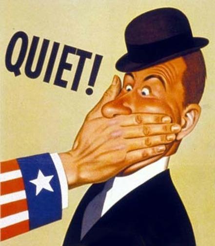 WWII propaganda poster -Quiet