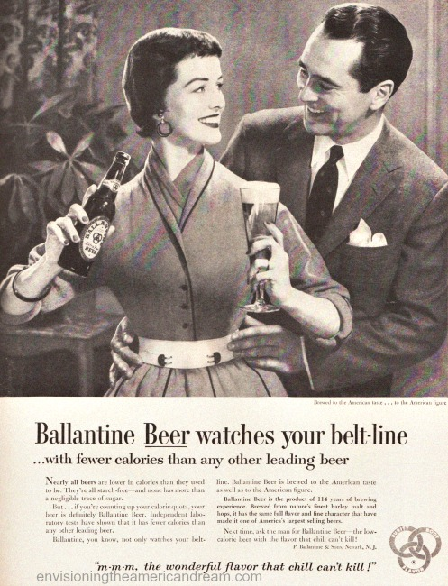 beer-budweiser-women-vintage ad woman and husband 1950s
