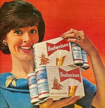 vintage beer ad houswife