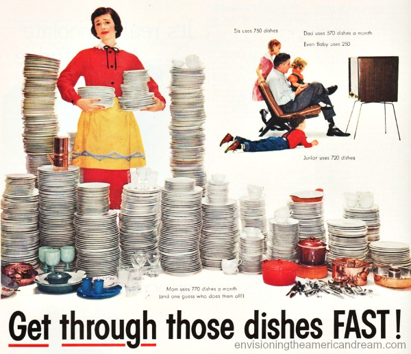 kitchen-lux-dishes vintage ad housewife