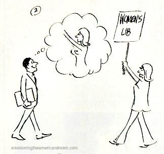 Vintage Cartoon Womens Lib Sexist