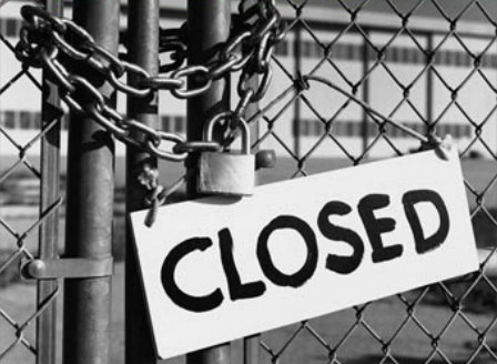 Image result for closed Factory