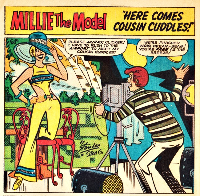 Vintage Comic Book Millie the Model 1969