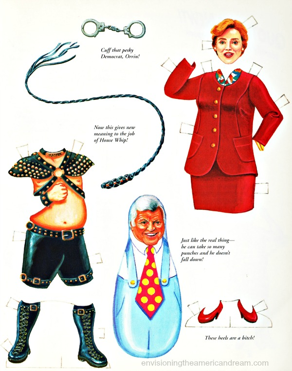 newt-gingrich-paper-doll-hillary-clinton