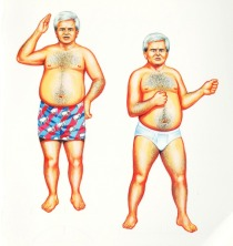 newt Gingrich in underwear illustration