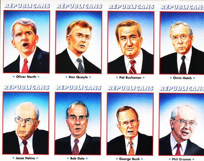newt-gingrich-paper doll book -1990's republicans-illustrations