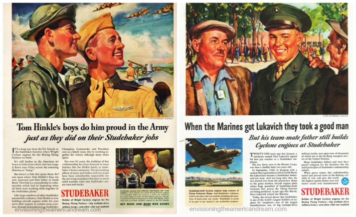 wwii-studebaker ads vintage illustrations WWII soldiers
