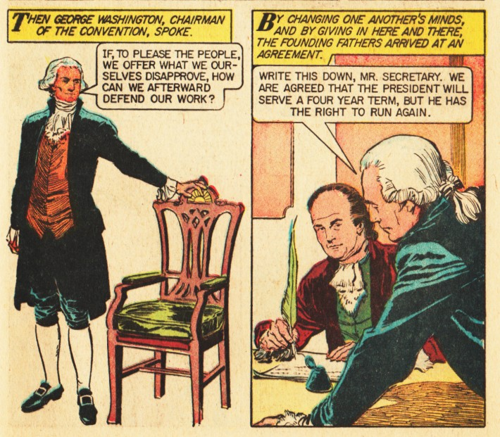 vintage comics American presidents George washington