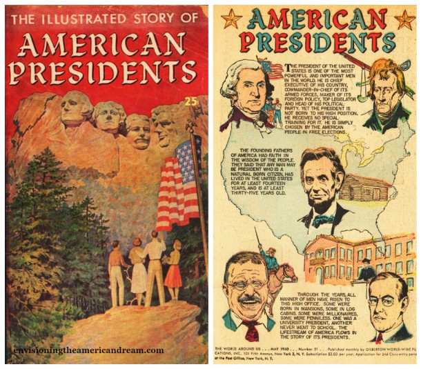 """Vintage Comic Book """"The Illustrated Story of American Presidents"""""""