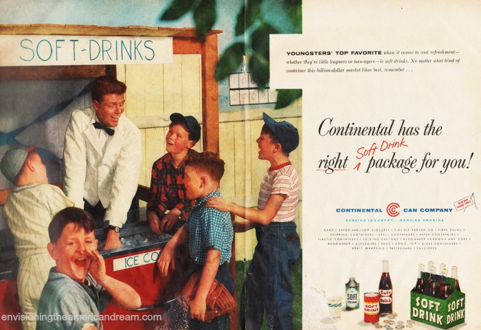 vintage 1950s kids and soda