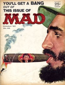 illustration Fidel Castro cigar Mad Magazine