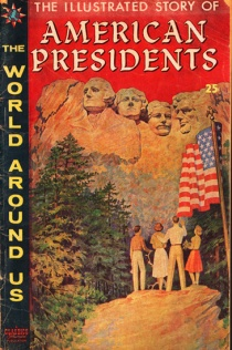 vintage comic book American presidents