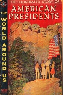 vintage comic book American presidents