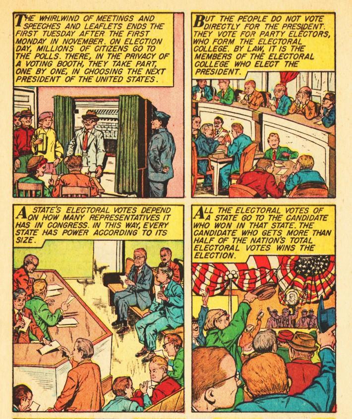 vintage comics electionc
