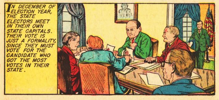 vintage comics electing-president