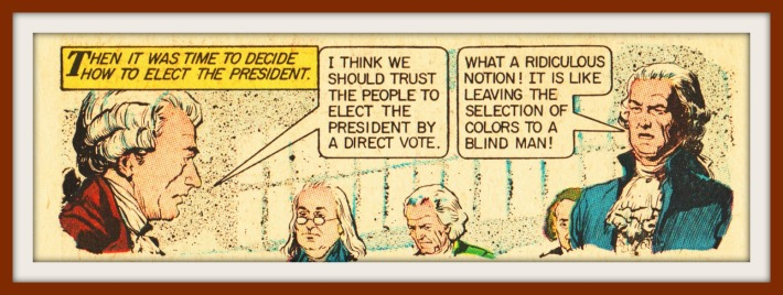 electing-president-by-people vintage comc historical characters
