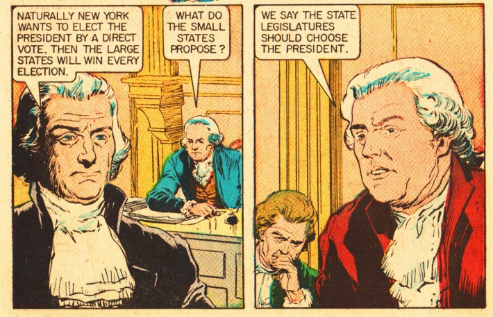 vintage comic founding fathers