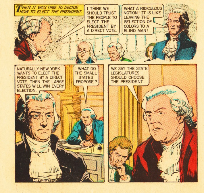 vintage comics American presidents The Foundng Fathers electing-president-
