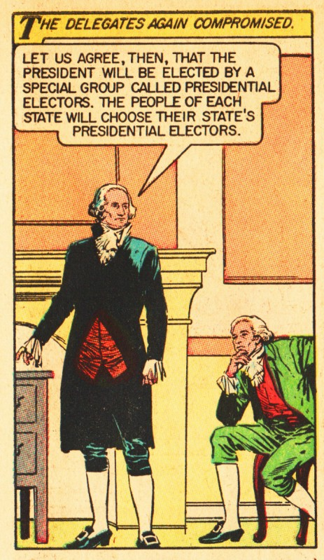 vintage comic book illustration George Washington