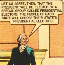 vintage comic electing our president