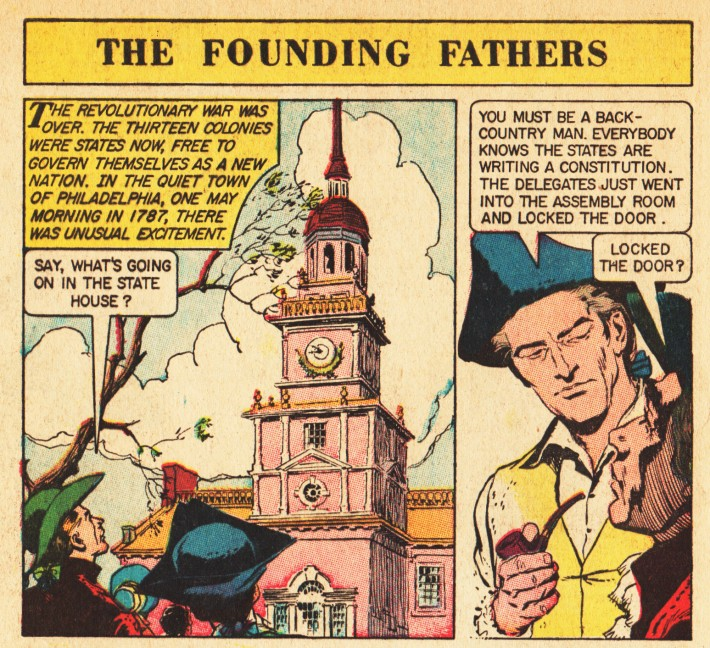 vintage comics American presidents The Foundng Fathers