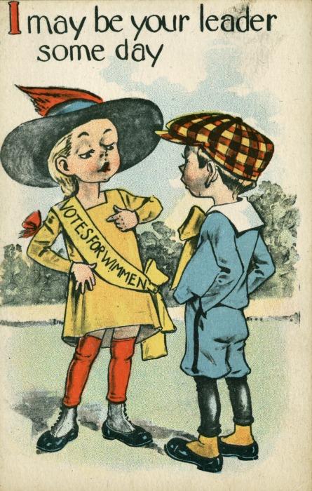 Vintage Suffragette Postcard