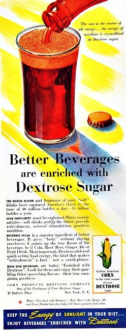 vintage ad Dextrose Sugar 1940's