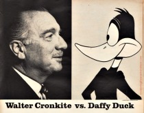 Walter Cronkite and Daffy Duck