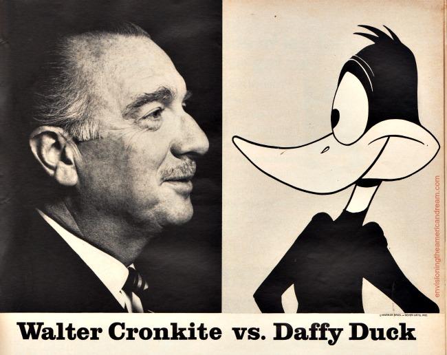 Walter Cronkite and Daffy Duck