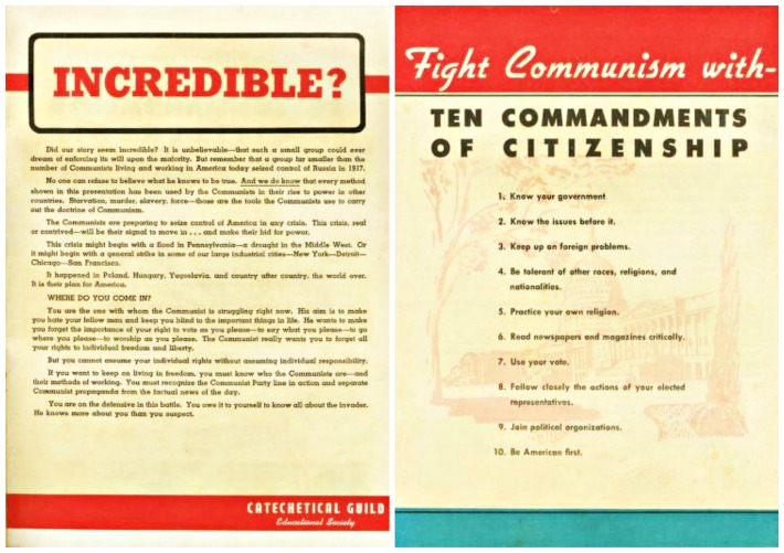 "fight-communism""Is This Tomorrow"" published by Catechetical Guild Educational Society 1947"