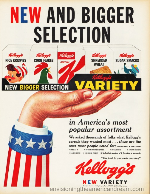 vintage kelloggs cereal Variety ad