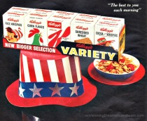 vintage ad Uncle sam hat Kellogg's cereal