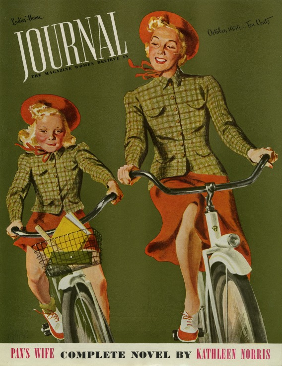 al-parker illustrationmother-daughter-bicycle
