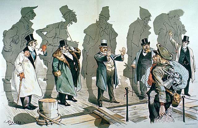anti imigration-political cartoon Joseph Keppler