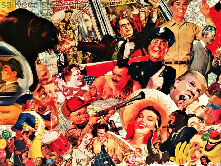 Sally Edelstein Collage of appropriated images