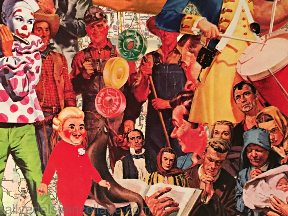 art Sally Edelstein Collage of appropriated images