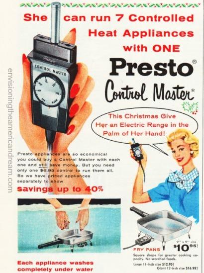 Vintage ad Presto Control Master