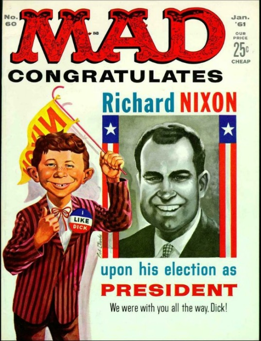 MAD Magazine Cover Nixon 1960