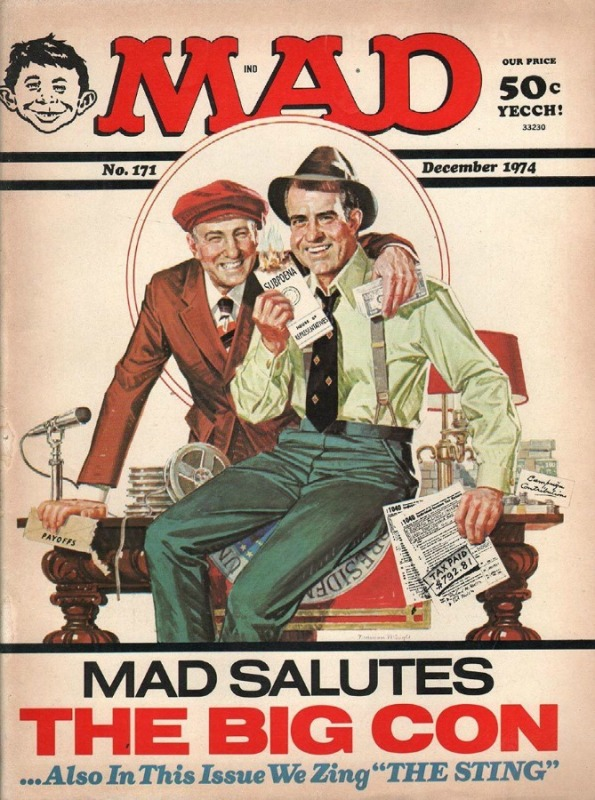MAD Magazine December 1974 . Nixon The Big Con