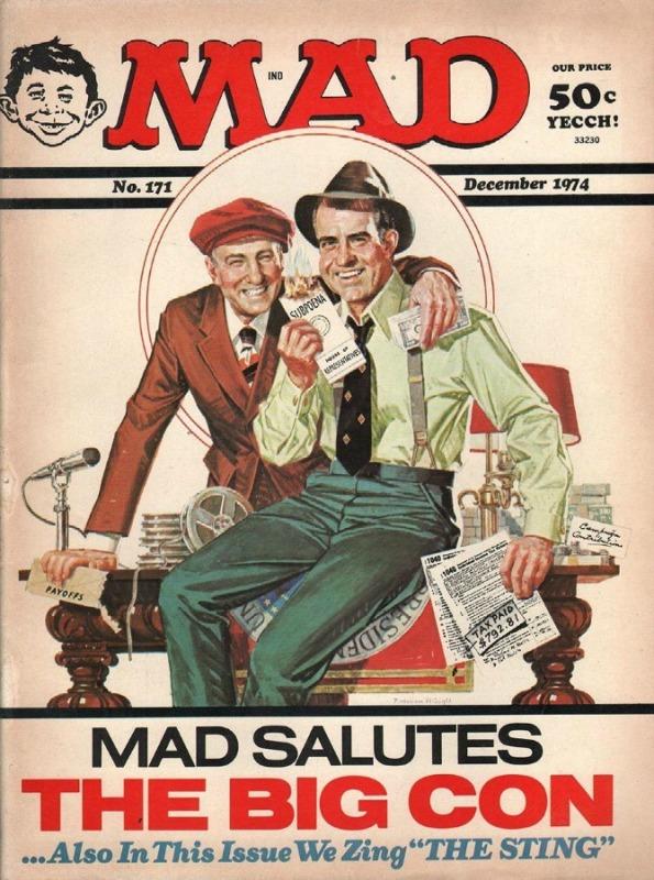 MAD Magazine December 1974 . Nixon The Big Con