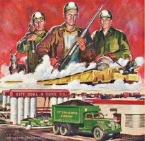 illustration coal miners industry