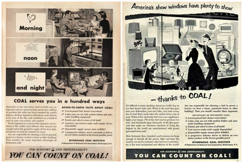 Vintage ads 1950-1952 Bitminous Coal Institute