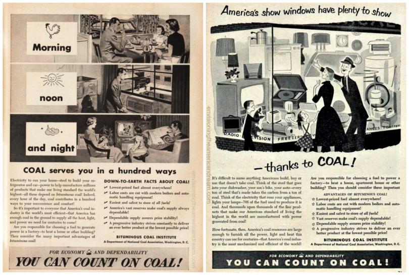 Vintage ads 1950-1952 Bitminous Coal Institute
